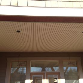 Soffit view of entrance
