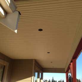 Soffit with lights installation